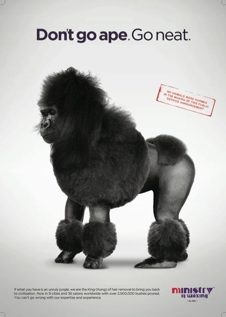 Don't let yourself go this winter. Visit our #LondonWaxperts! Remember, Don't go ape. Go neat!