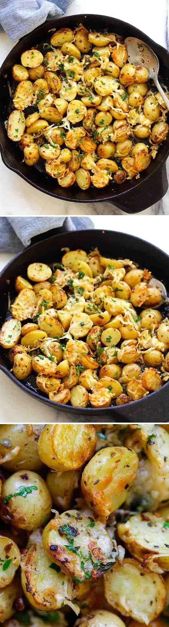 Italian Roasted Potatoes - cheese, healthy, paprika, parsley, potato, recipes