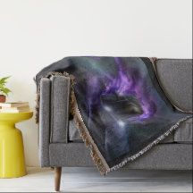 This Purple Flyer Express Throw will look great on your sofa or bed.