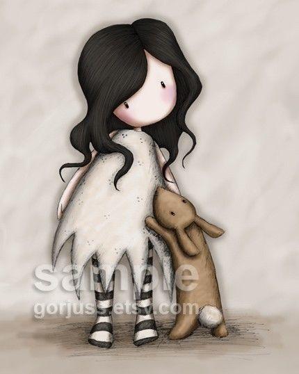I Love You Little Rabbit  8 x 10 Giclee Fine Art Print  by gorjuss, $18.00