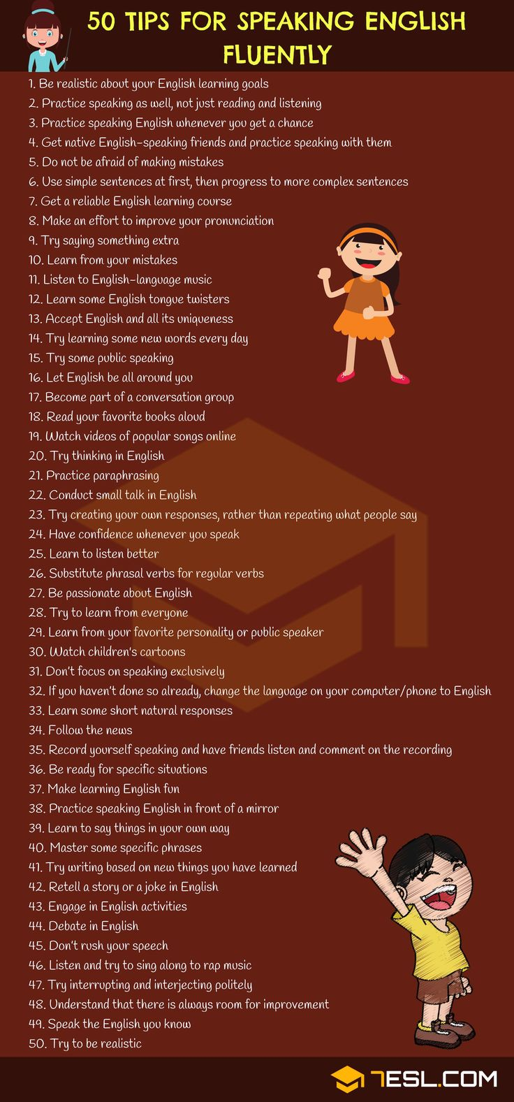 Learn how to Communicate English Fluently: 50 Easy Suggestions!!