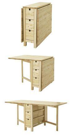 Mesa multipropositos en donde se puede guardar de todo en los seis cajones debajo de la superficie de la mesa.
