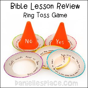 Cone Ring Toss Bible Lesson Review Game from www.daniellesplace.com