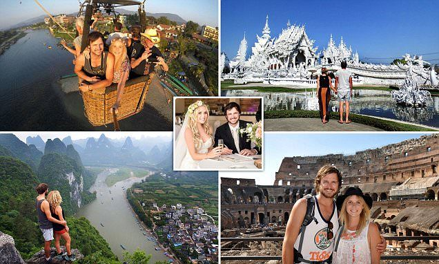 Newlyweds quit their £40K jobs to travel the world on a tight budget