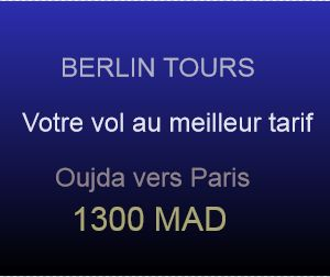reservation vol oujda vers paris