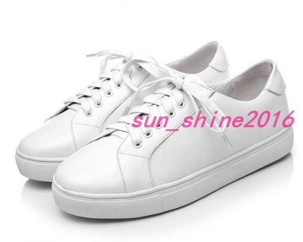 Women Round Roe Flat Platform Sneaker Lace Up Casual Sports Shoes Runing Shoes