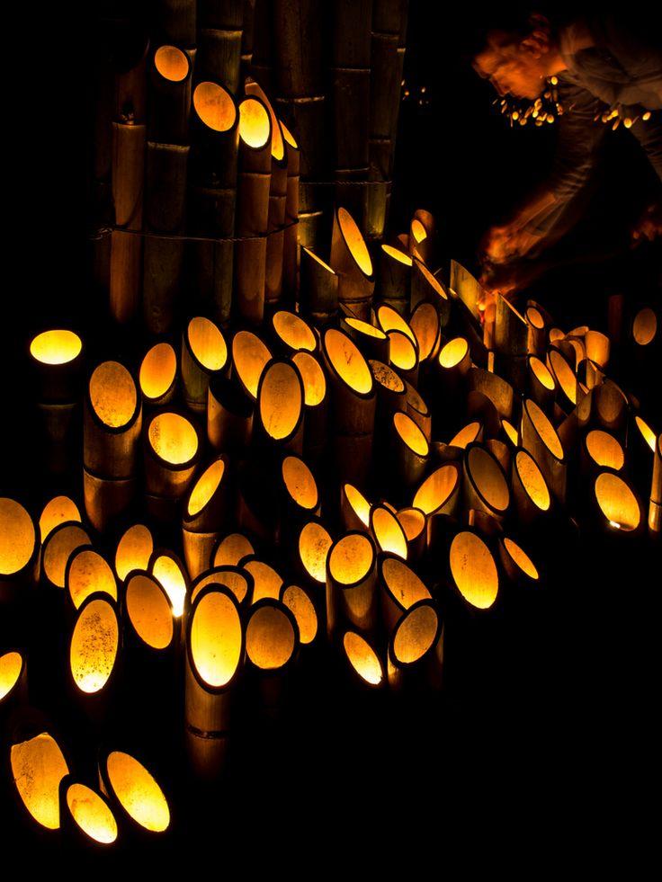 <新潟 見所> 宵の竹灯篭祭り(村上市)