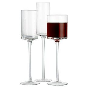 Square wine glasses