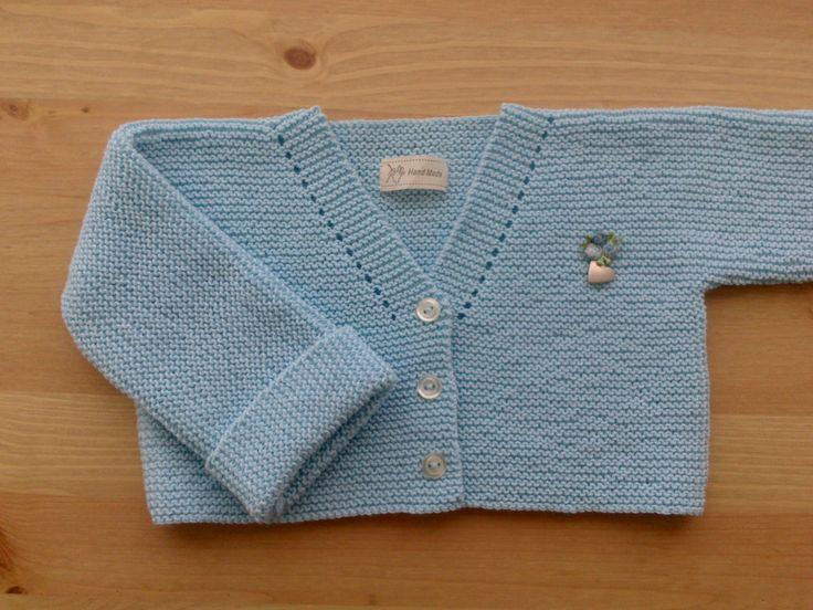 como hacer una chaqueta de bebe, talla 12-18 meses