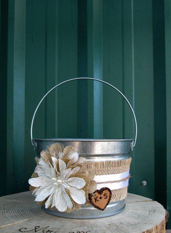 Burlap Flower Girl Basket Hobby Lobby : Best wedding baskets ideas on bridesmaid
