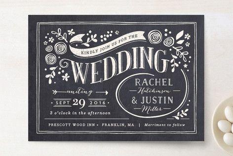Alabaster Florals Wedding Invitations by Jennifer Wick at minted.com
