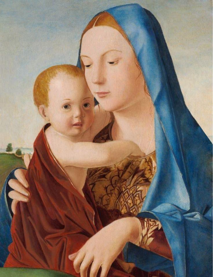 Antonello da Messina - Madonna and Child c. 1475. National Gallery.