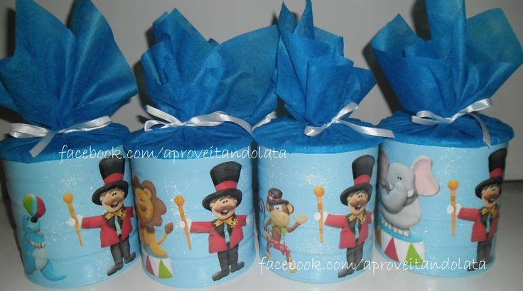 Latas  circo/palhaço www.facebook.com/aproveitandolata  @anadaslatinhas intagram