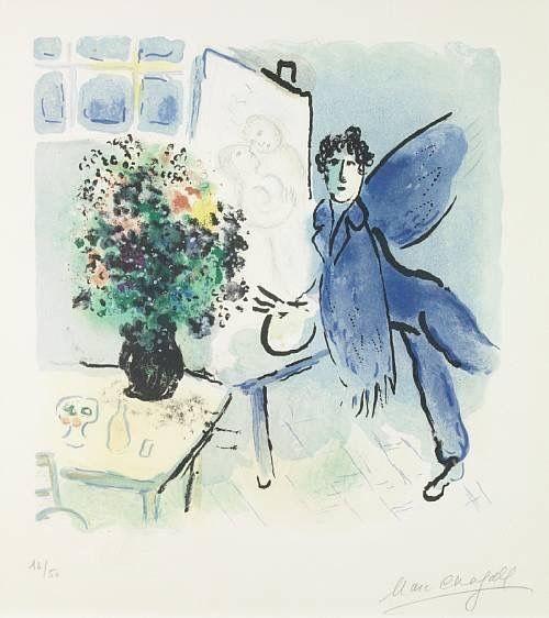 Marc Chagall -L'Atelier Bleu ,1973