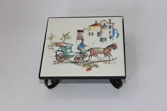 Mid Century Modern trivet pot stand 1960s by MillCottageRetro