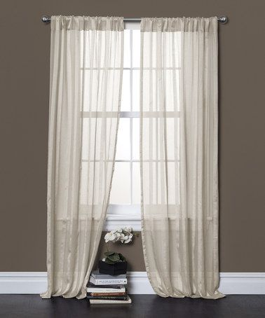 Love this Rhythm Ivory Window Curtain - Set of Two on #zulily! #zulilyfinds