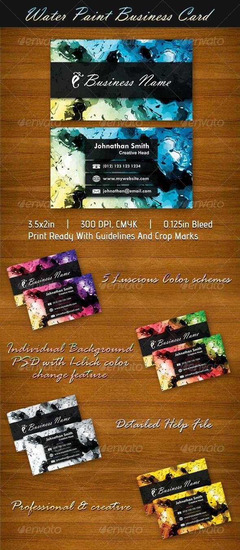 16 best Paint Business Card Ideas images on Pinterest | Card ideas ...