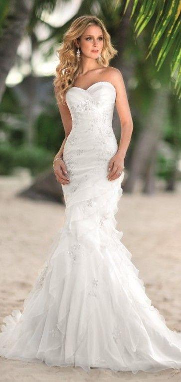 lovely beach wedding dress