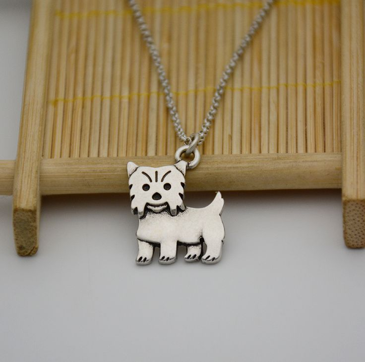 Real Picture Bohemia Vintage Yorkshire Terrier Necklace Anime Bijoux Colar Boho Dog Choker Necklaces For Women Men Jewelry Cs Go
