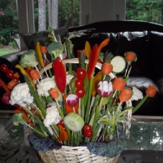 Vegetable flower bouquet