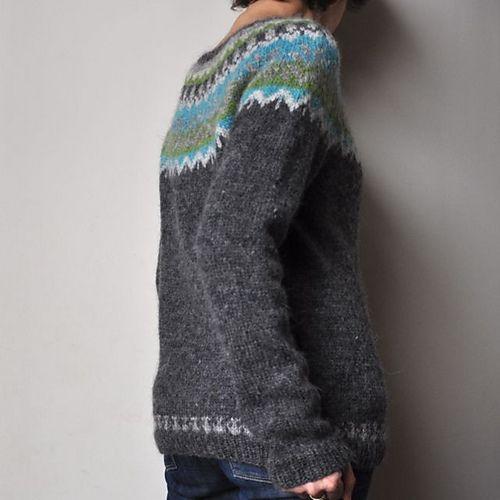 Ravelry: bouillesdecotons Couleurs Caraïbes . Afmaeli 20-year anniversary sweater by Védís Jónsdóttir - free pattern