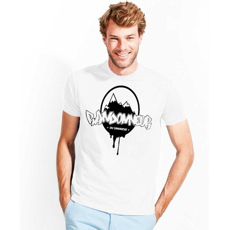 T-shirt pour homme réalisé par l'artiste alsacien PIKO