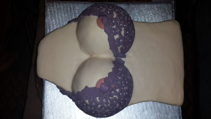 Boob cake with body and bra.