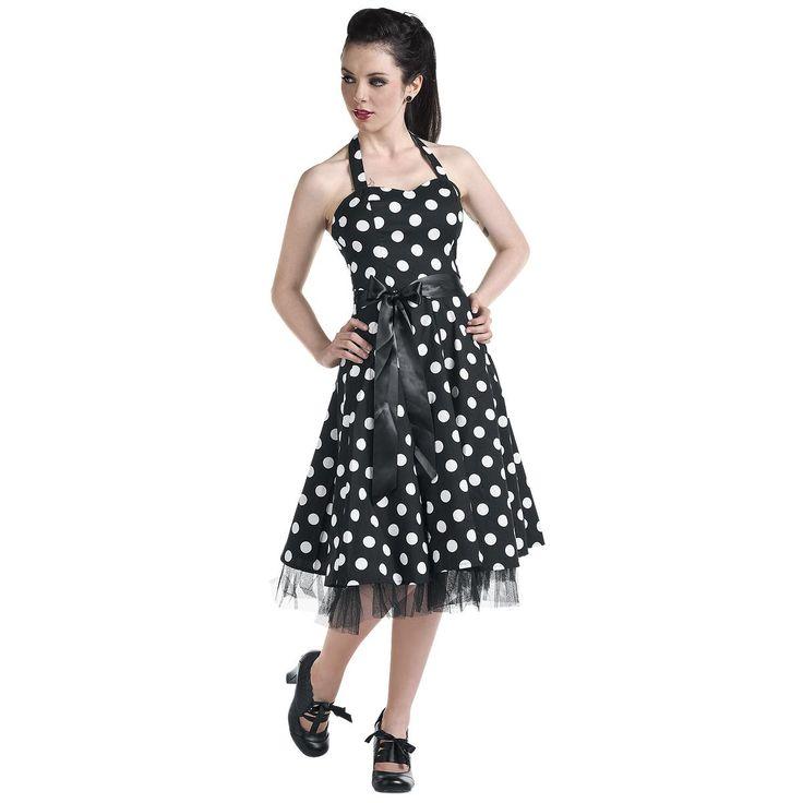 """#Abito in stile anni '50 """"Big Dot Dress"""" del brand #H&RLondon."""