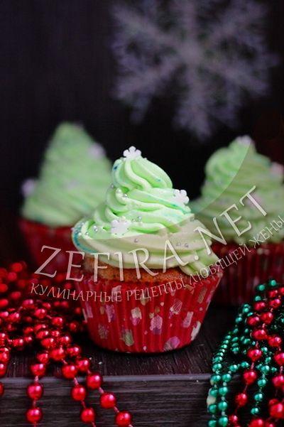 Новогодние кексы елочки - рецепт и фото