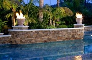 Fire Bowl Pool Landscaping Fire Bowls Cool Pools