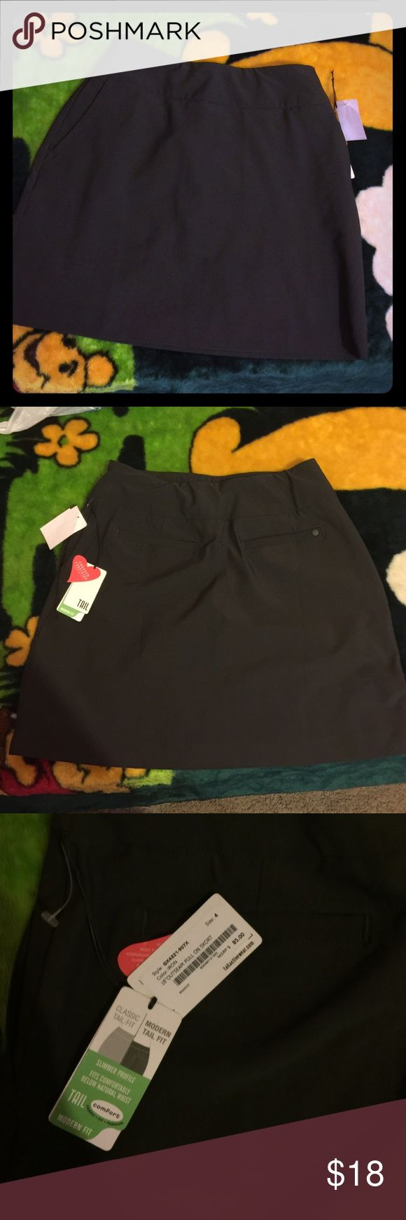 NEW !!Gray skirt (active wear ) Bought from trailactivewear.com it is very comfortable looks a bit casual and has really soft shorts attached.                                                •Size 4 trail Other