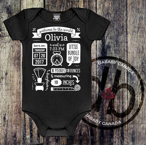 Personalized Baby Stats Gift - Custom Baby Gift - Birth Announcement Keepsake - Nursery Decor Baby Birth Announcement http://etsy.me/2DA8PgG #clothing #children #bodysuit #babyshower #custombabygift #birthannouncement #nurserydecor #keepsakebabygift #personalizedbaby