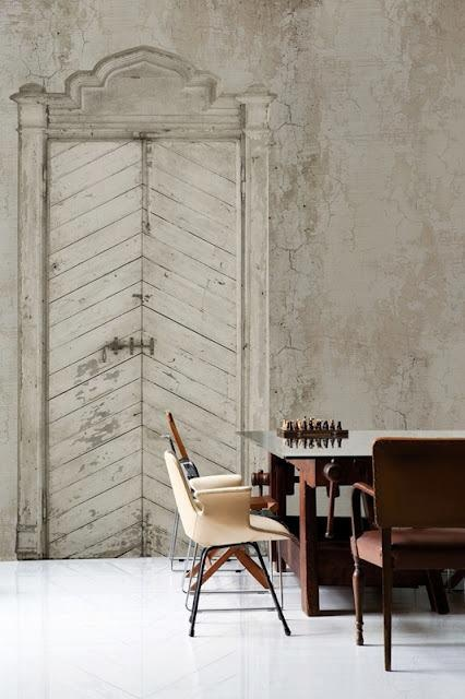 Perfection in the form of doors and walls flaunting their history... repinned via Brandon Smith aka @Brandon Smith for #WallPinWednesday