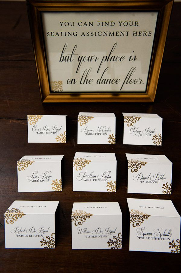 17 best images about place card displays on pinterest for Table sign design