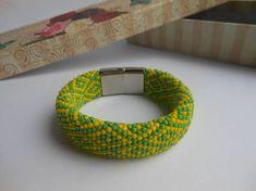 IOrula bracelet Santeria bracelet Yoruba religion Ifa bracelet Yoruba jewelry Santero Santeria jewelry Orisha Ilde de orula Idde de Orunmila This beaded bracelet is a religious bracelet. Crocheted. Made from Japanese beads. You can choose the length of bracelets. For this bracelet