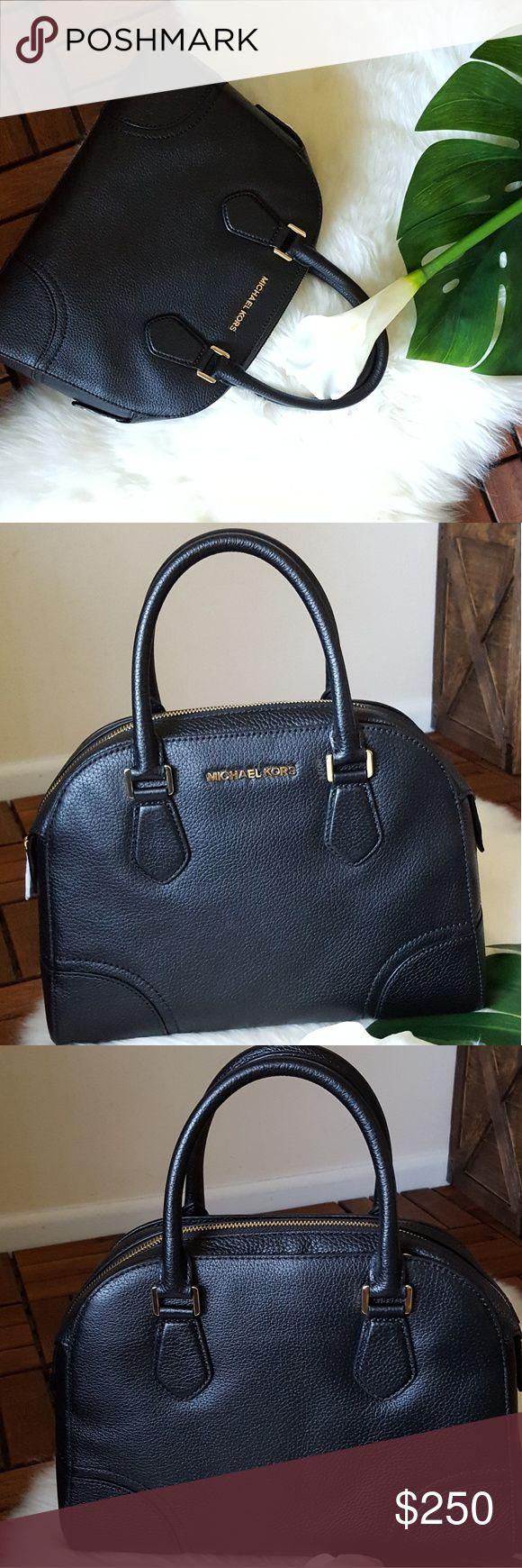 """Michael Kors Bowling Bag NWT - 100% AUTHENTIC   * Gold tone hardware  * Gold MK circle medallion  * Top zip closure  * Interior 1 zip pocket and 4 slip pockets  * Removable adjustable long leather strap with appx. 22"""" drop  * Dust bag not included Michael Kors Bags Crossbody Bags"""