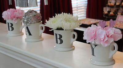 John and Rachel: Pink & Grey Chevron Baby Shower