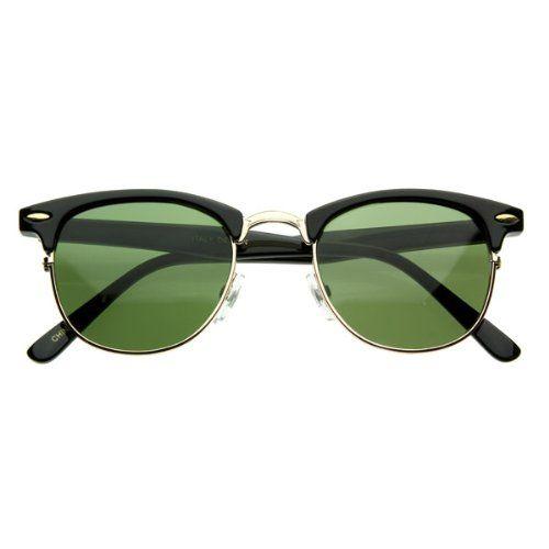 Vintage Half Frame Clubmaster Wayfarers Style Classic Optical RX Sunglasses