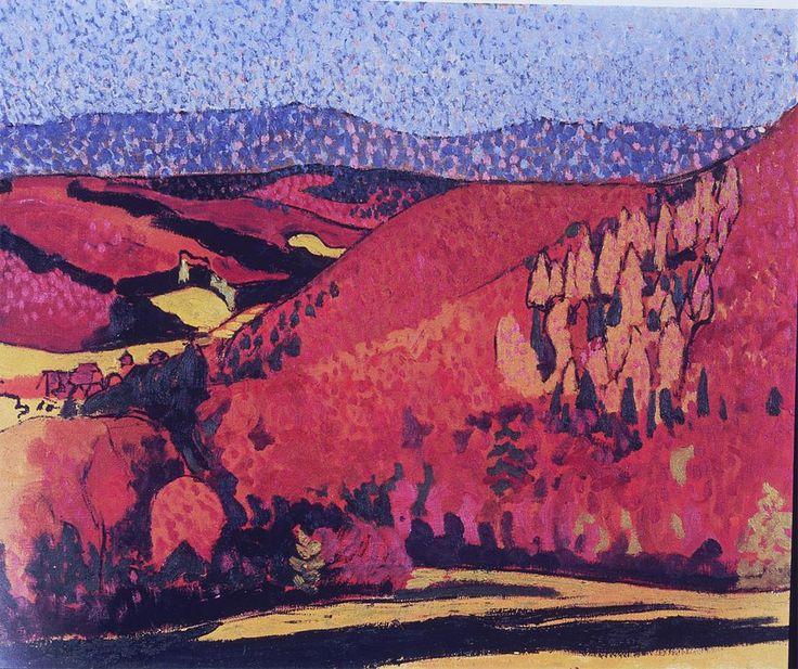 post-impressiosm  Autumn Landscape 1905  Cuno Amiet