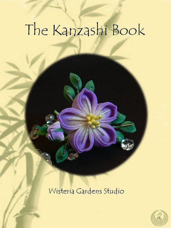 Tsumami Kanzashi Tutorial Book por WisteriaGardens en Etsy