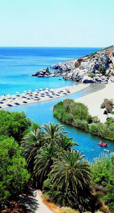 Beautiful Crete Island, Greece! | Preveli beach, Rethimnon