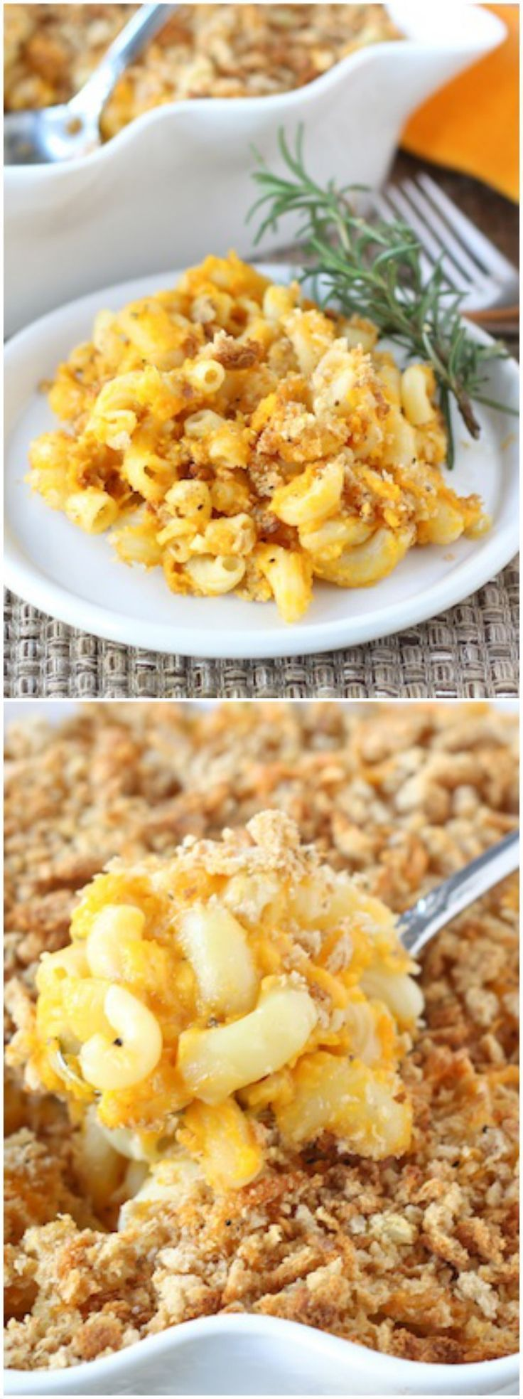 This Butternut Squash Mac and Cheese is a great meatless main dish. It is comforting, filling, and delicious. Serve it with a simple green salad and it made the perfect meal. Delicious Comfort Food Recipe!