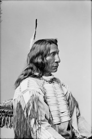 Red Cloud - Oglala - 1880 {Note: It is said that Red Cloud received his name because a red comet traveled through the sky in the year he was born, in 1822.}
