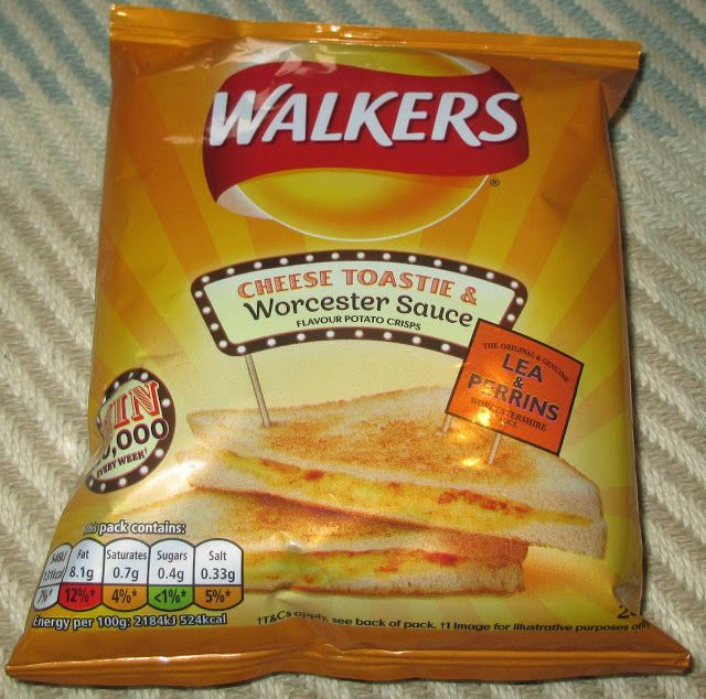 FOODSTUFF FINDS: Walkers Cheese Toastie & Worcester Sauce