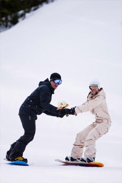 Victoria & Matt's Fantasy Snowboard Wedding | Sweet Occasions Banff