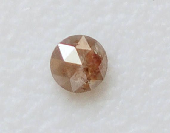 2.80mm Light Champagne Rose Cut Diamond Rare Natural