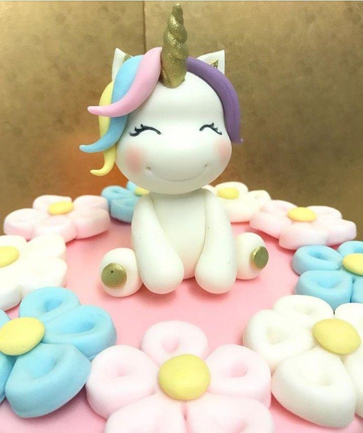 Pin By Evangeline Lee On Fondant Decor Unicorn Cake Unicorn Cupcakes