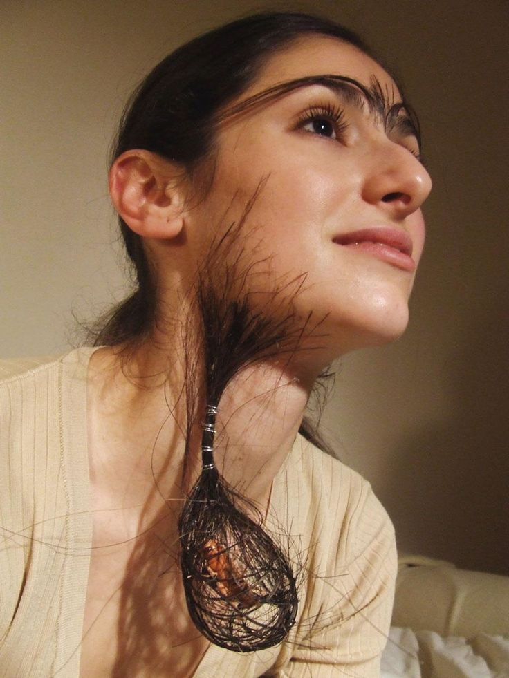 Woman hairy face
