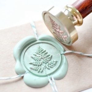 B20 Wax Seal Stamp Personalized Custom Initial Dotted Monogram