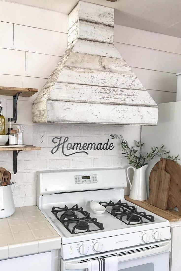 Kitchen Hood Ideas Glossy Modern Island Range Hood Farmhouse Kitchen Inspiration Home Decor Kitchen Shabby Chic Kitchen